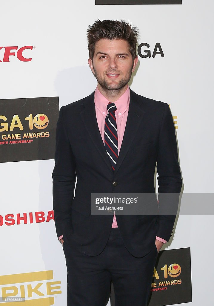 Actor Adam Scott attends Spike TV's 10th Annual Video Game Awards at Sony Pictures Studios on December 7, 2012 in Culver City, California.