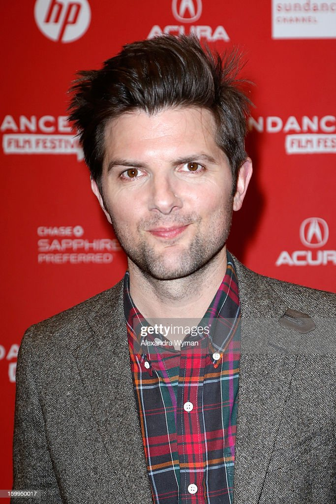 Actor Adam Scott attends the 'A.C.O.D' Premiere during the 2013 Sundance Film Festival at Eccles Center Theatre on January 23, 2013 in Park City, Utah.