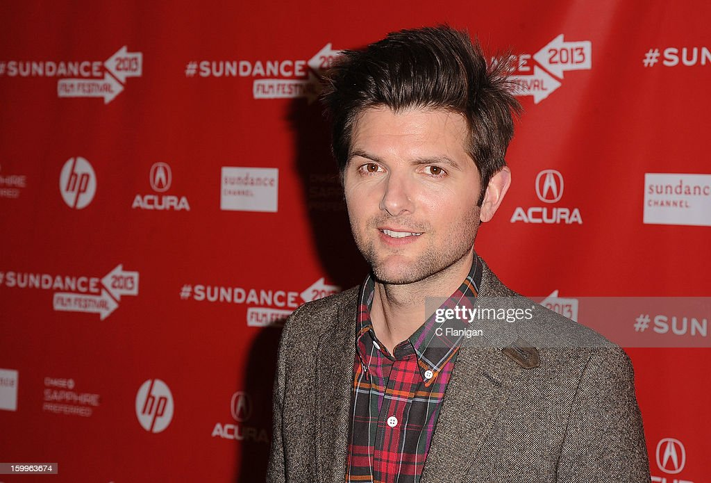 Actor Adam Scott attends the 'A.C.O.D.' Premiere during the 2013 Sundance Film Festival at Eccles Center Theatre on January 23, 2013 in Park City, Utah.