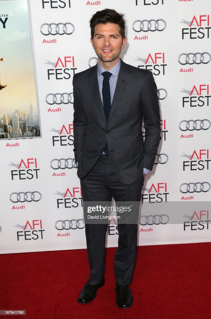Actor Adam Scott attends the AFI FEST 2013 presented by Audi premiere of 'The Secret Life of Walter Mitty' at the TCL Chinese Theatre on November 13, 2013 in Hollywood, California.