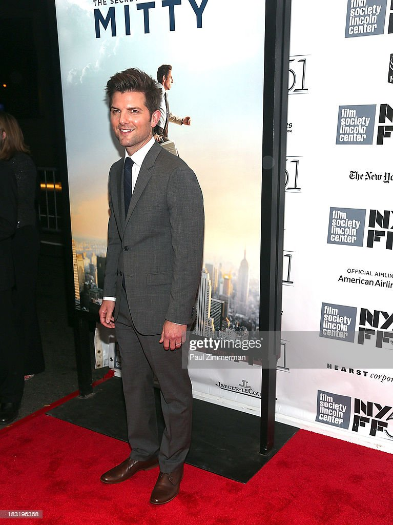 Actor <a gi-track='captionPersonalityLinkClicked' href=/galleries/search?phrase=Adam+Scott+-+Actor&family=editorial&specificpeople=7401387 ng-click='$event.stopPropagation()'>Adam Scott</a> attends the Centerpiece Gala Presentation Of 'The Secret Life Of Walter Mitty' premiere during the 51st New York Film Festival at Alice Tully Hall at Lincoln Center on October 5, 2013 in New York City.