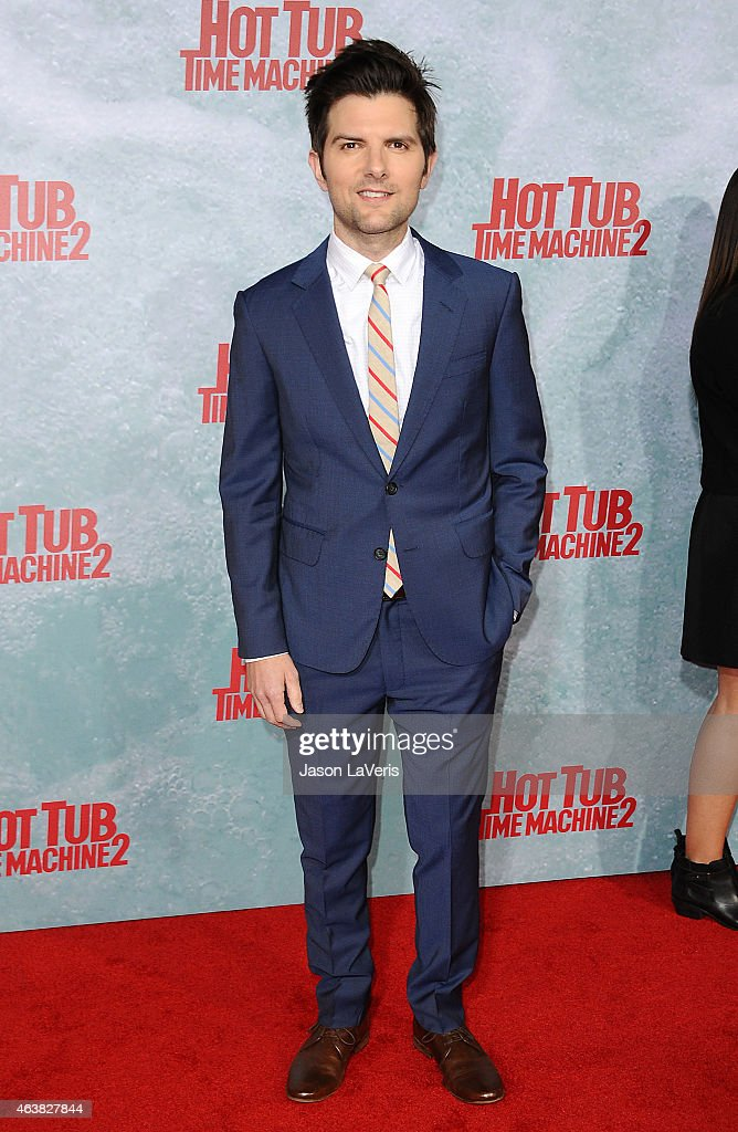 Actor <a gi-track='captionPersonalityLinkClicked' href=/galleries/search?phrase=Adam+Scott+-+Actor&family=editorial&specificpeople=7401387 ng-click='$event.stopPropagation()'>Adam Scott</a> attends the premiere of 'Hot Tub Time Machine 2' at Regency Village Theatre on February 18, 2015 in Westwood, California.