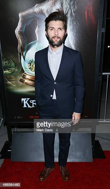 Actor Adam Scott attends the screening of Universal Pictures' 'Krampus' held at ArcLight Cinemas on November 30 2015 in Hollywood California