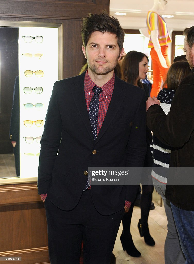Actor Adam Scott attends Tommy Hilfiger New West Coast Flagship Opening on Robertson Boulevard on February 13, 2013 in West Hollywood, California.