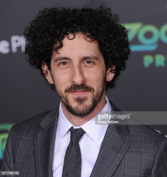 Actor Adam Shapiro arrives at the premiere of Walt Disney Animation Studios' 'Zootopia' at the El Capitan Theatre on February 17 2016 in Hollywood...