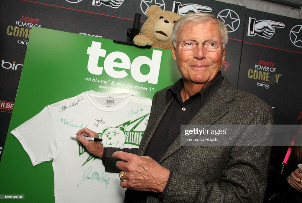 Actor Adam West arrives at Variety's 3rd annual Power of Comedy event presented by Bing benefiting the Noreen Fraser Foundation held at Avalon on November 17, 2012 in Hollywood, California. The Ted Blu-ray and DVD will be released on December 11, 2012.
