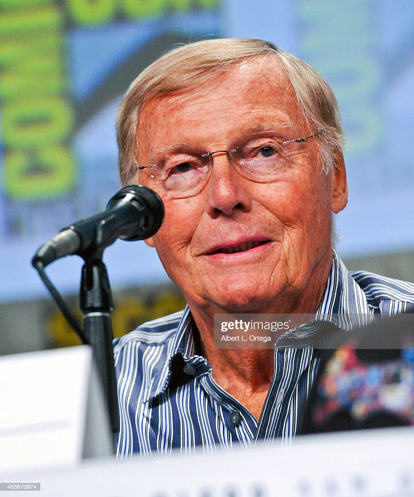 Actor Adam West at the 'Batman: The Complete Series' panel on Thursday Day 1 of Comic-Con International 2014 held at San Diego Convention Center on July 24, 2014 in San Diego, California.