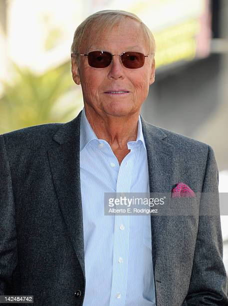 Actor Adam West attends a ceremony honoring him with the 2468th Star on the Hollywood Walk of Fame on April 5 2012 in Hollywood California