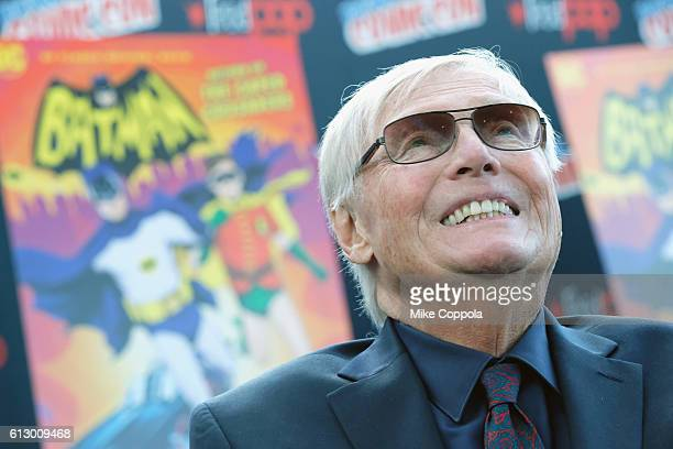 Actor Adam West attends the Batman Return of the Caped Crusaders Press Room at New York ComicCon Day 1 at Jacob Javits Center on October 6 2016 in...