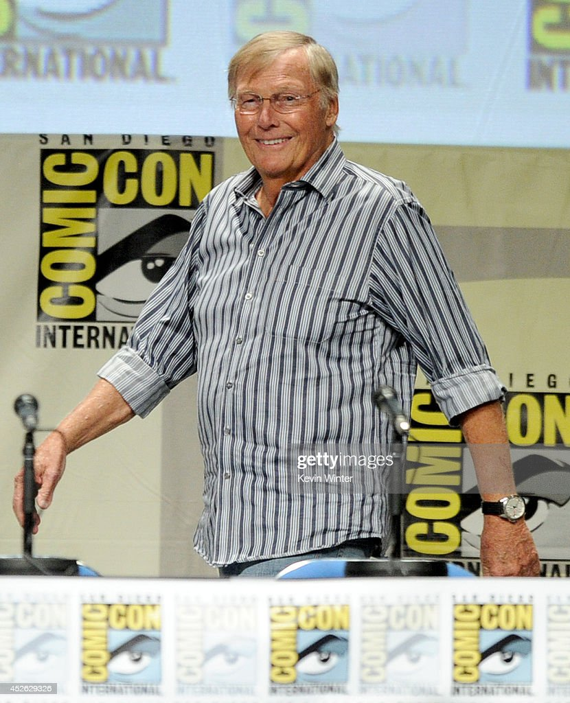Actor Adam West attends the 'Batman: The Complete Series' DVD release presentation during Comic-Con International 2014 at the San Diego Convention Center on July 24, 2014 in San Diego, California.