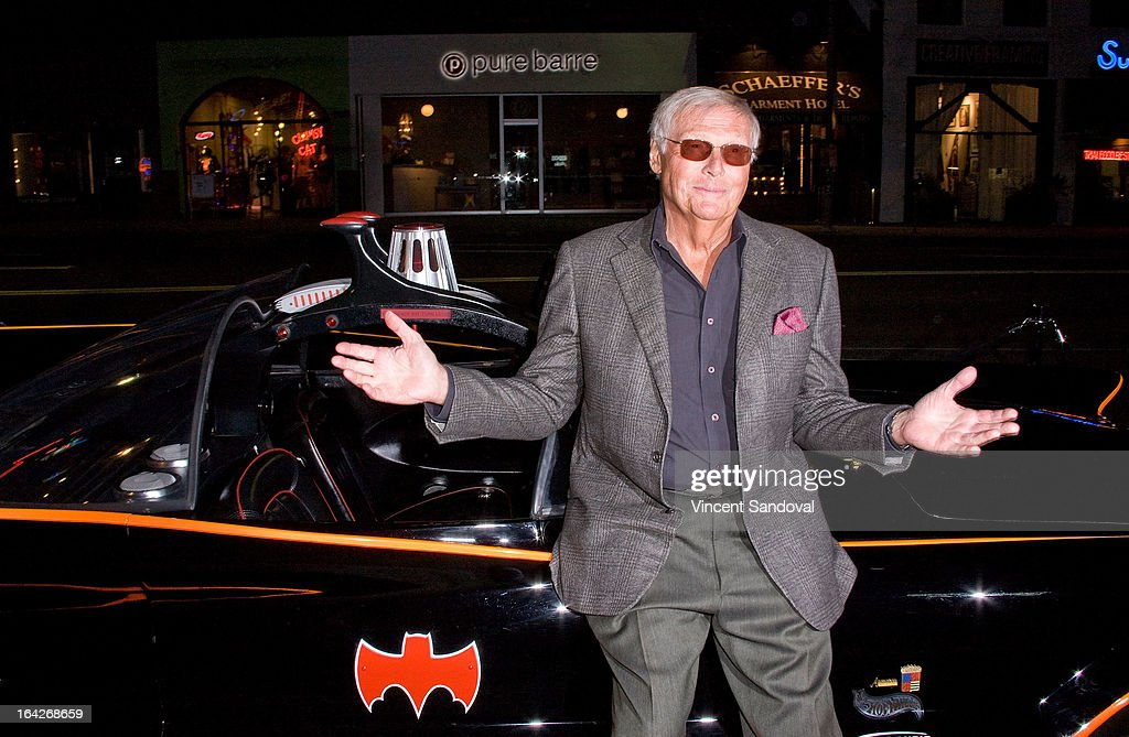 Actor <a gi-track='captionPersonalityLinkClicked' href=/galleries/search?phrase=Adam+West&family=editorial&specificpeople=235413 ng-click='$event.stopPropagation()'>Adam West</a> attends the launch of the Batman classic TV series licensing program at Meltdown Comics and Collectibles on March 21, 2013 in Los Angeles, California.