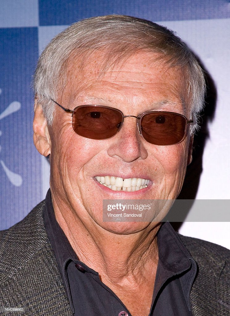 Actor <a gi-track='captionPersonalityLinkClicked' href=/galleries/search?phrase=Adam+West+-+Actor&family=editorial&specificpeople=235413 ng-click='$event.stopPropagation()'>Adam West</a> attends the launch of the Batman classic TV series licensing program at Meltdown Comics and Collectibles on March 21, 2013 in Los Angeles, California.