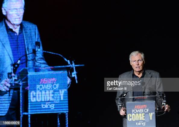 Actor Adam West onstage at Variety's 3rd annual Power of Comedy event presented by Bing benefiting the Noreen Fraser Foundation held at Avalon on...