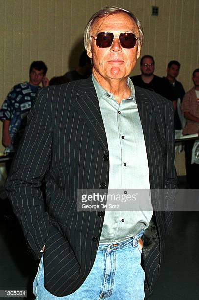 Actor Adam West who played Batman in the 'Batman' tv series attends the second annual New York Comic And Fantasy Creators Convention June 23 2000 at...