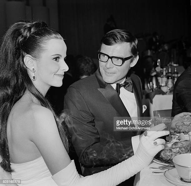 Actor Adam West with date attends an event in Los AngelesCA