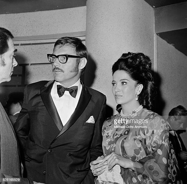 Actor Adam West with Linda Cristal attends an event in Los AngelesCA
