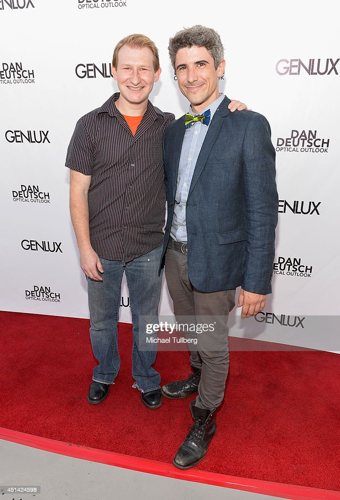 Actor Adam Wylie and director Brendan Russo attend Genlux Magazine's launch party for their new issue at Luxe Hotel on June 28, 2014 in Los Angeles, California.