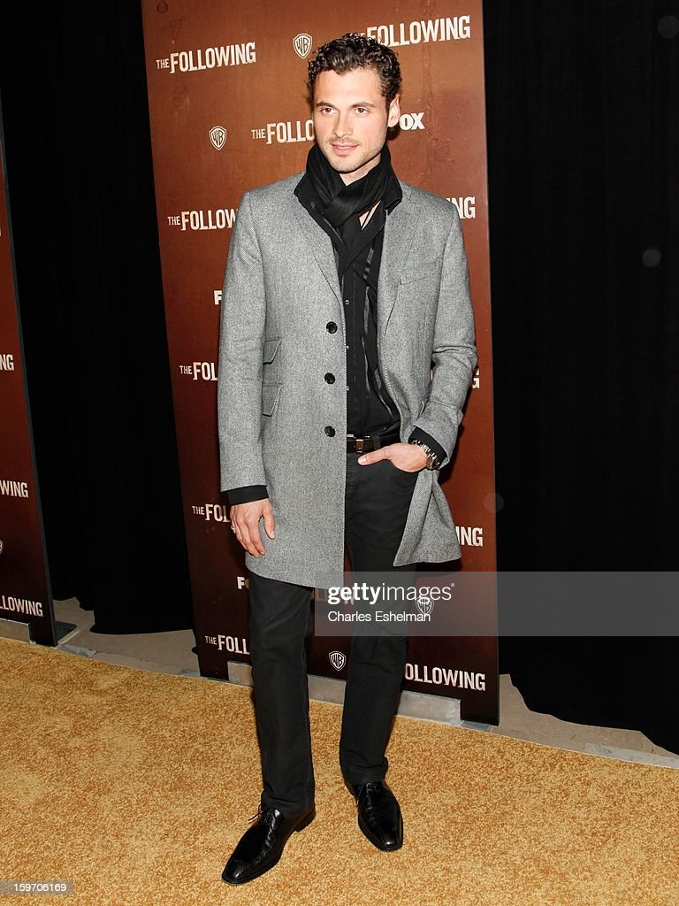 Actor Adan Canto attends 'The Following' premiere at The New York Public Library on January 18, 2013 in New York City.