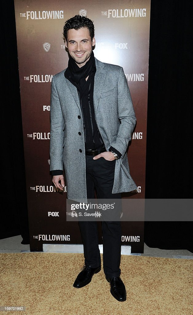 Actor Adan Canto attends 'The Following' World Premiere at The New York Public Library on January 18, 2013 in New York City.
