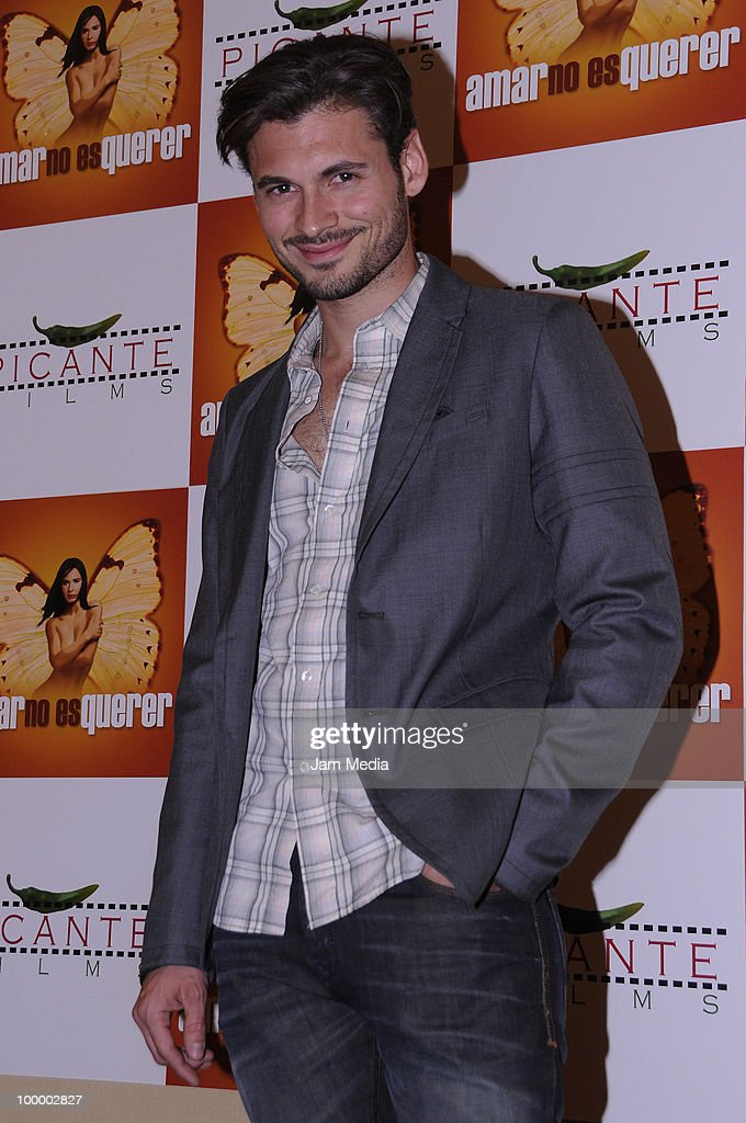 Actor Adan Canto poses for a photograph during a press conference to present the movie 'Amar no es Querer' at Marriot Hotel on May 19, 2010 in Mexico City, Mexico.