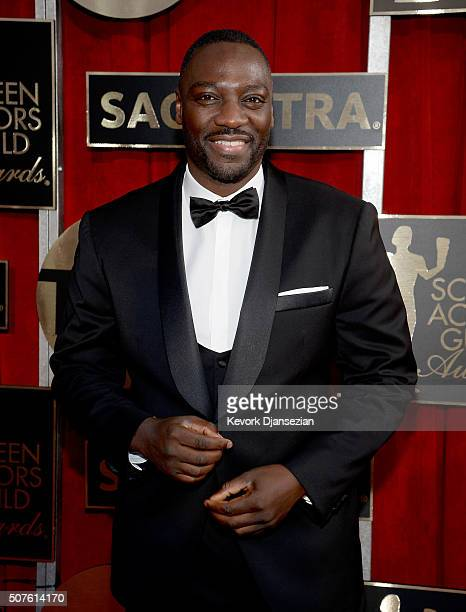 Actor Adewale Akinnuoye Agbaje attends the 22nd Annual Screen Actors Guild Awards at The Shrine Auditorium on January 30 2016 in Los Angeles...