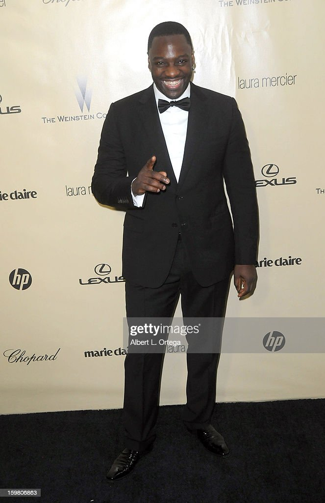 Actor Adewale Akinnuoye-Agbaje arrives for the Weinstein Company's 2013 Golden Globe Awards After Party - Arrivals on January 13, 2013 in Beverly Hills, California.