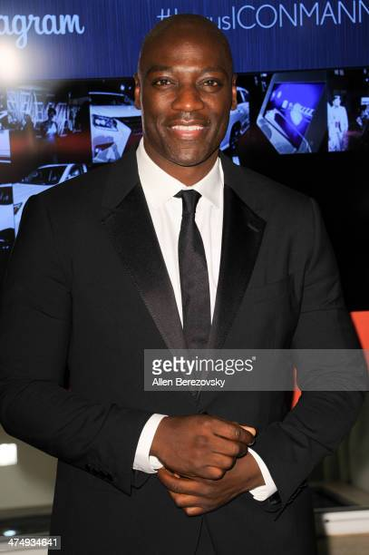 Actor Adewale AkinnuoyeAgbaje attends Icon Mann's 2nd Annual Power 50 PreOscar dinner at Peninsula Hotel on February 25 2014 in Beverly Hills...