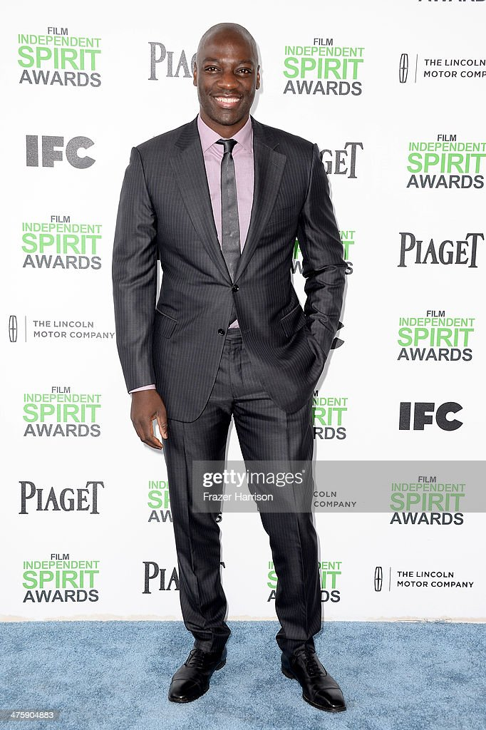 Actor <a gi-track='captionPersonalityLinkClicked' href=/galleries/search?phrase=Adewale+Akinnuoye-Agbaje&family=editorial&specificpeople=787923 ng-click='$event.stopPropagation()'>Adewale Akinnuoye-Agbaje</a> attends the 2014 Film Independent Spirit Awards at Santa Monica Beach on March 1, 2014 in Santa Monica, California.