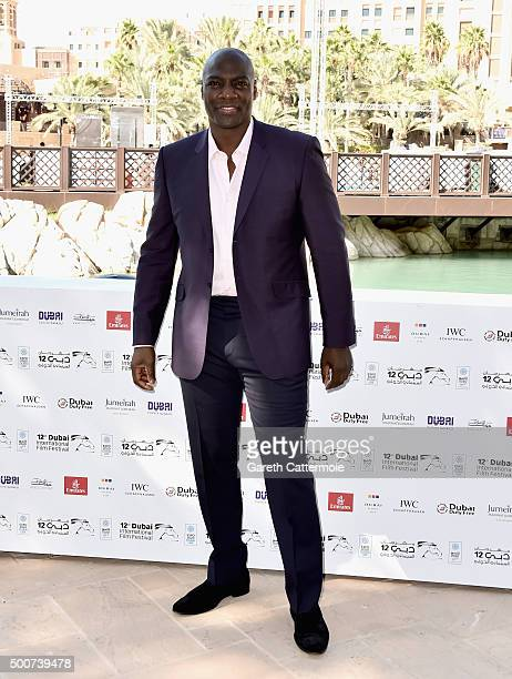 Actor Adewale AkinnuoyeAgbaje attends the 'Bilal' photocall during day two of the 12th annual Dubai International Film Festival held at the Madinat...