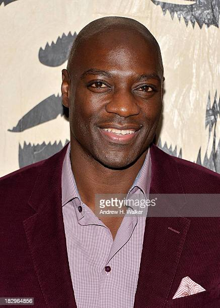 Actor Adewale AkinnuoyeAgbaje attends The Cinema Society Tommy Hilfiger screening of 'The Inevitable Defeat of Mister Pete' after party at Jungle...