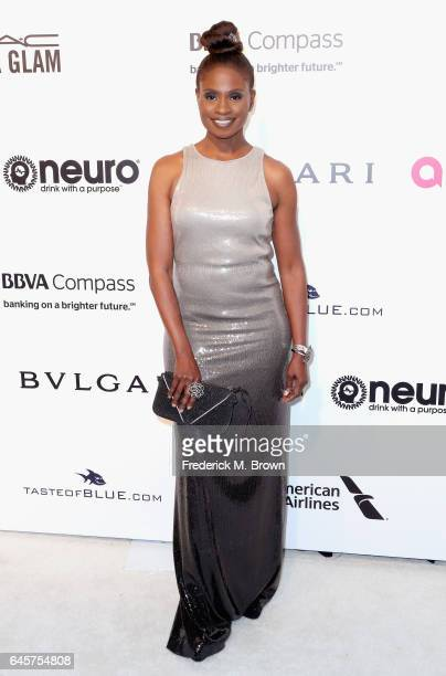 Actor Adina Porter attends the 25th Annual Elton John AIDS Foundation's Academy Awards Viewing Party at The City of West Hollywood Park on February...