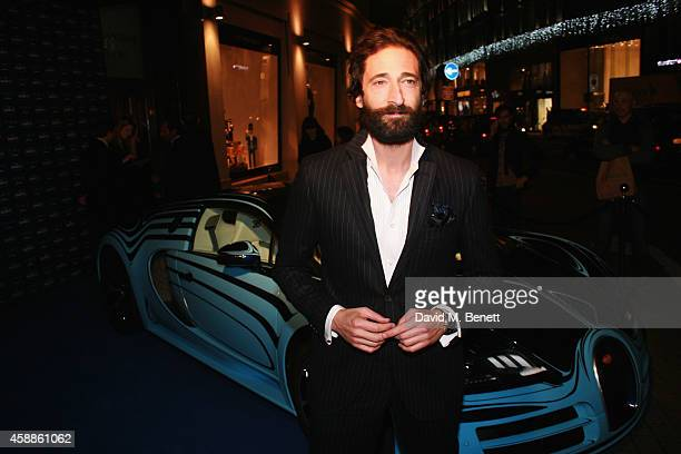 Actor Adrian Brody attends the Blue of London celebrating the world's first Bugatti Lifestyle Boutique opening at Brompton Road on November 12 2014...