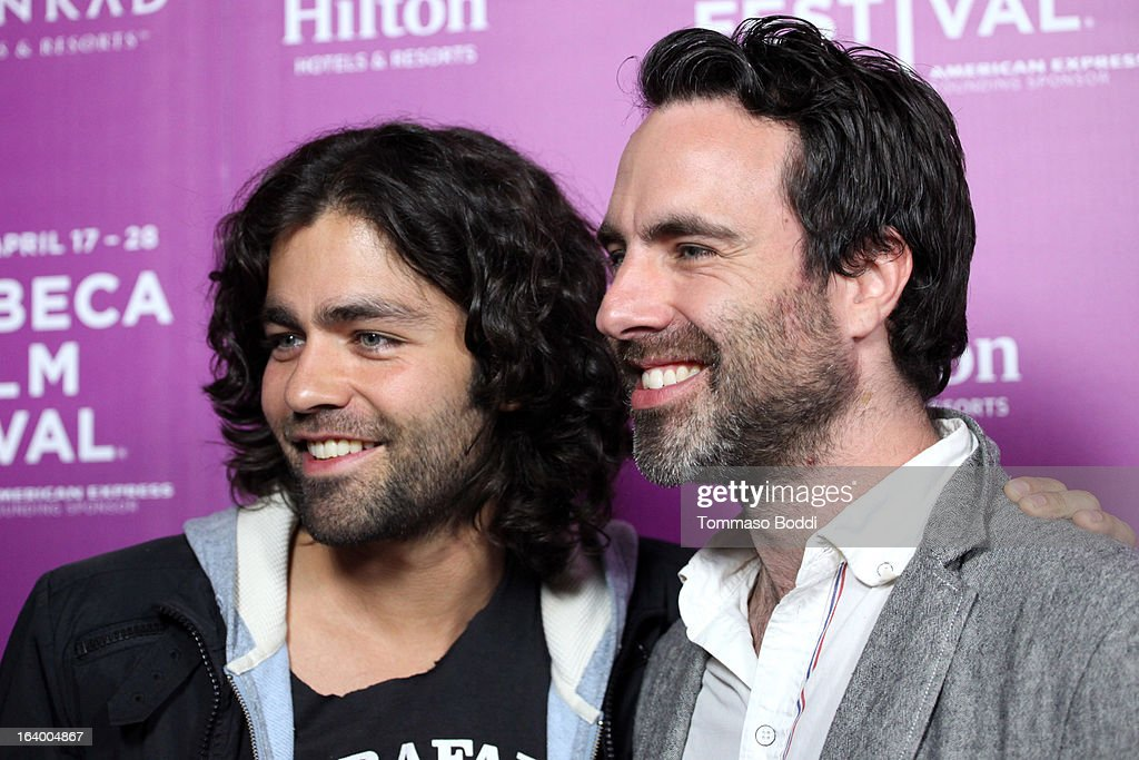 Actor Adrian Grenier (L) and director Matthew Cooke attend the 5th annual Tribeca Film Festival 2013 LA reception held at The Beverly Hilton Hotel on March 18, 2013 in Beverly Hills, California.