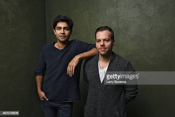 Actor Adrian Grenier and filmmaker Joshua Zeman from '52 The Search for the Loneliest Whale in the World' pose for a portrait at the Village at the...