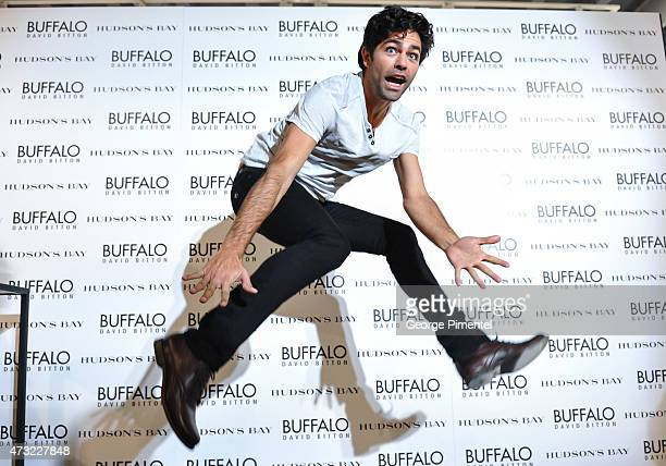 Actor Adrian Grenier appears at Hudson's Bay to promote Buffalo David Bitton on May 13 2015 in Toronto Canada