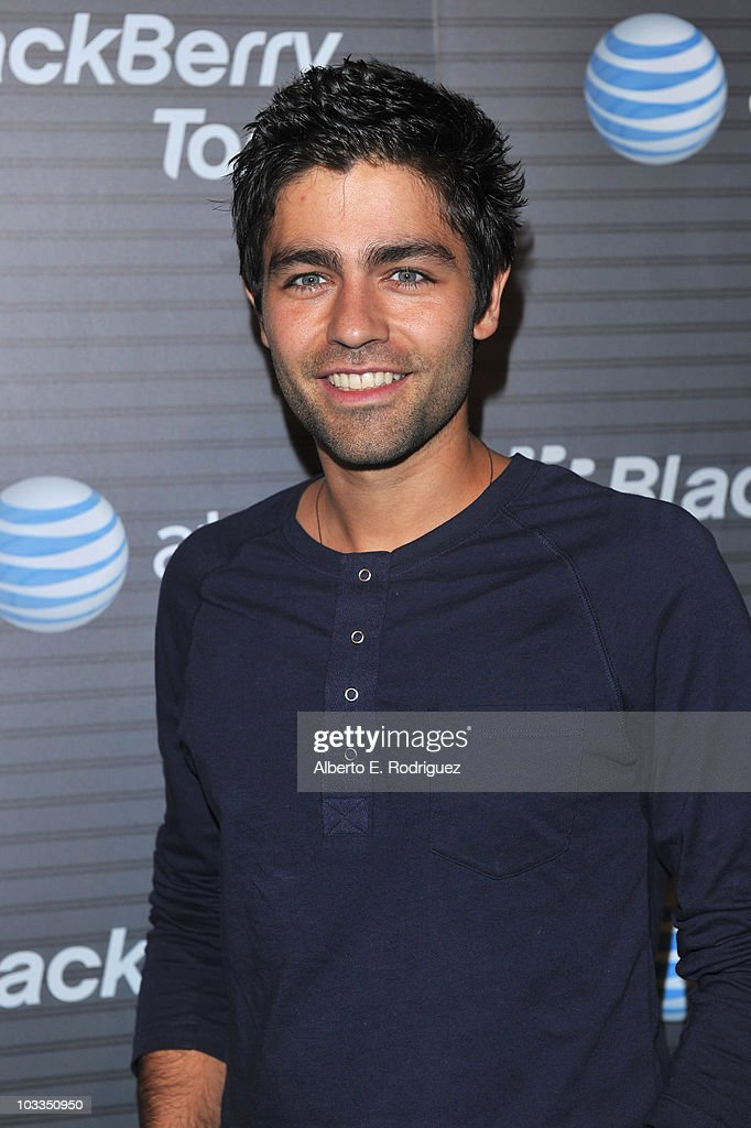 Actor Adrian Grenier arrives at the Blackberry Torch launch party on August 11 2010 in Los Angeles California