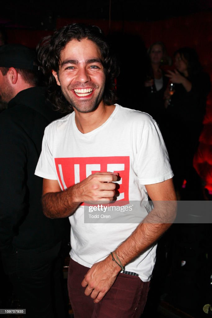 Actor <a gi-track='captionPersonalityLinkClicked' href=/galleries/search?phrase=Adrian+Grenier&family=editorial&specificpeople=211413 ng-click='$event.stopPropagation()'>Adrian Grenier</a> attends Night 2 of Hyde Lounge on January 19, 2013 in Park City, Utah.