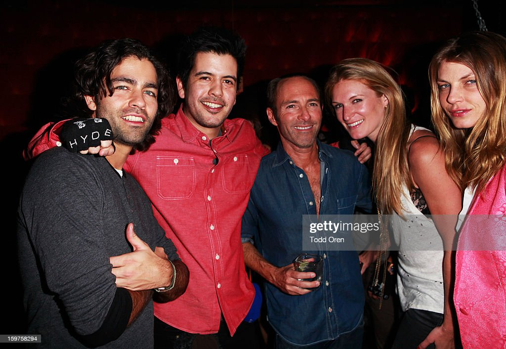 Actor <a gi-track='captionPersonalityLinkClicked' href=/galleries/search?phrase=Adrian+Grenier&family=editorial&specificpeople=211413 ng-click='$event.stopPropagation()'>Adrian Grenier</a> (L) attends Night 2 of Hyde Lounge on January 19, 2013 in Park City, Utah.