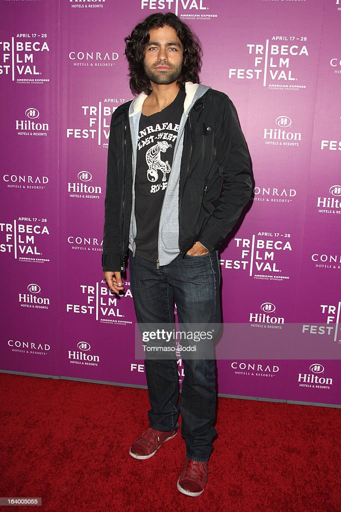 Actor Adrian Grenier attends the 5th annual Tribeca Film Festival 2013 LA reception held at The Beverly Hilton Hotel on March 18, 2013 in Beverly Hills, California.