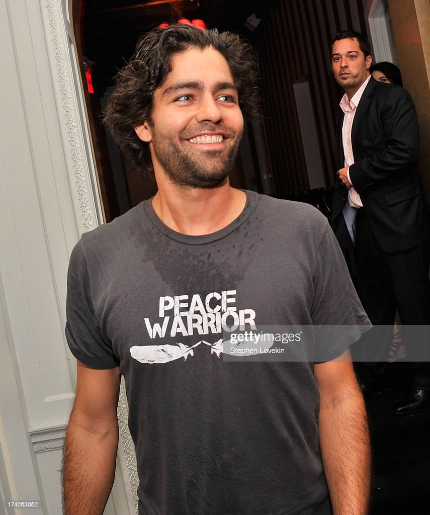 Actor <a gi-track='captionPersonalityLinkClicked' href=/galleries/search?phrase=Adrian+Grenier&family=editorial&specificpeople=211413 ng-click='$event.stopPropagation()'>Adrian Grenier</a> attends the after party for the New York Premiere of 'Blue Jasmine' at Harlow on July 22, 2013 in New York City.