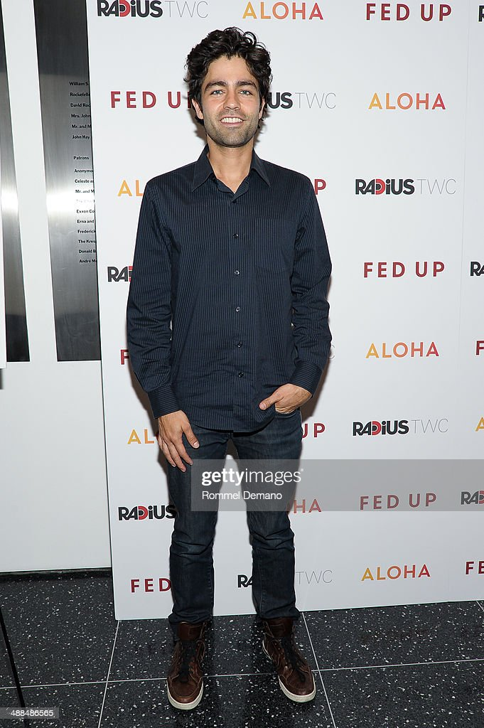 Actor <a gi-track='captionPersonalityLinkClicked' href=/galleries/search?phrase=Adrian+Grenier&family=editorial&specificpeople=211413 ng-click='$event.stopPropagation()'>Adrian Grenier</a> attends the 'Fed Up' premiere at Museum of Modern Art on May 6, 2014 in New York City.