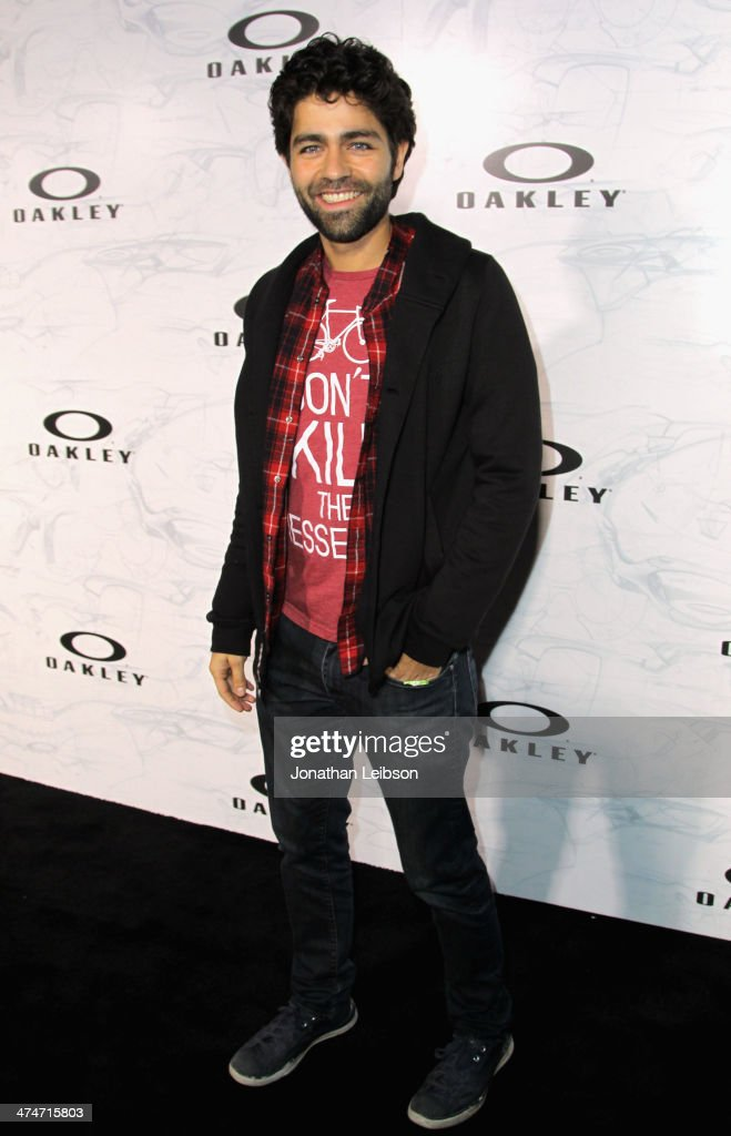 Actor <a gi-track='captionPersonalityLinkClicked' href=/galleries/search?phrase=Adrian+Grenier&family=editorial&specificpeople=211413 ng-click='$event.stopPropagation()'>Adrian Grenier</a> celebrates the past, present and future of Oakley's design and technology at the brand's 'Disruptive by Design' global campaign launch event at RED Studios on February 24, 2014 in Los Angeles, California.