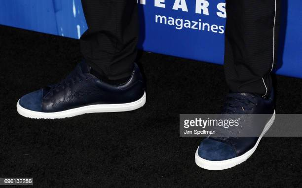 Actor Adrian Grenier shoe detail attends the 2017 Fragrance Foundation Awards at Alice Tully Hall Lincoln Center on June 14 2017 in New York City