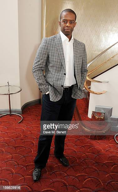 Actor Adrian Lester attends the 2013 Critics' Circle Theatre Awards at the Prince Of Wales Theatre on January 15 2013 in London England