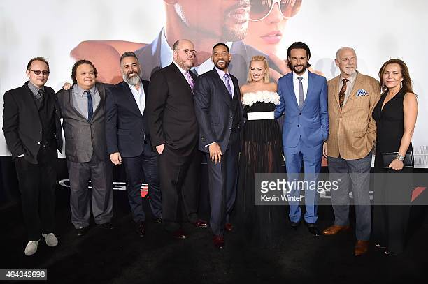 Actor Adrian Martinez producers/writers John Requa Glenn Ficarra actors Will Smith Margot Robbie Rodrigo Santoro Gerald McRaney and producer Denise...