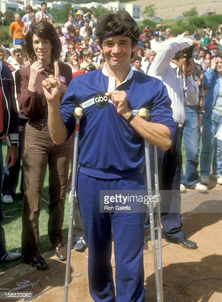 Actor Adrian Zmed attends the Taping of the 14th Installment of the Television Competition Special 'Battle of the Network Stars' on April 23 1983 at...