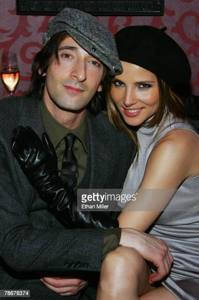 Actor Adrien Brody and actress Elsa Pataky pose at the grand opening of the CatHouse at the Luxor Resort Casino early December 30 2007 in Las Vegas...