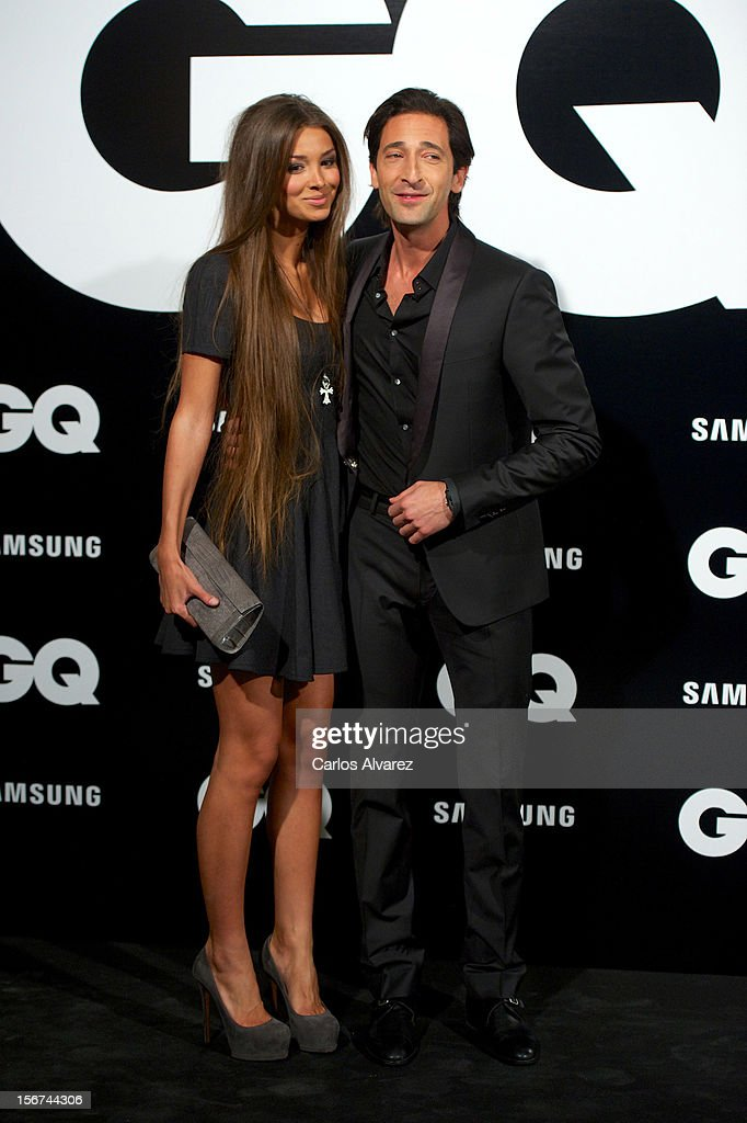 Actor <a gi-track='captionPersonalityLinkClicked' href=/galleries/search?phrase=Adrien+Brody&family=editorial&specificpeople=202175 ng-click='$event.stopPropagation()'>Adrien Brody</a> and girlfriend Lara Lieto attend the GQ Men Of The Year award 2012 at the Ritz Hotel on November 19, 2012 in Madrid, Spain.