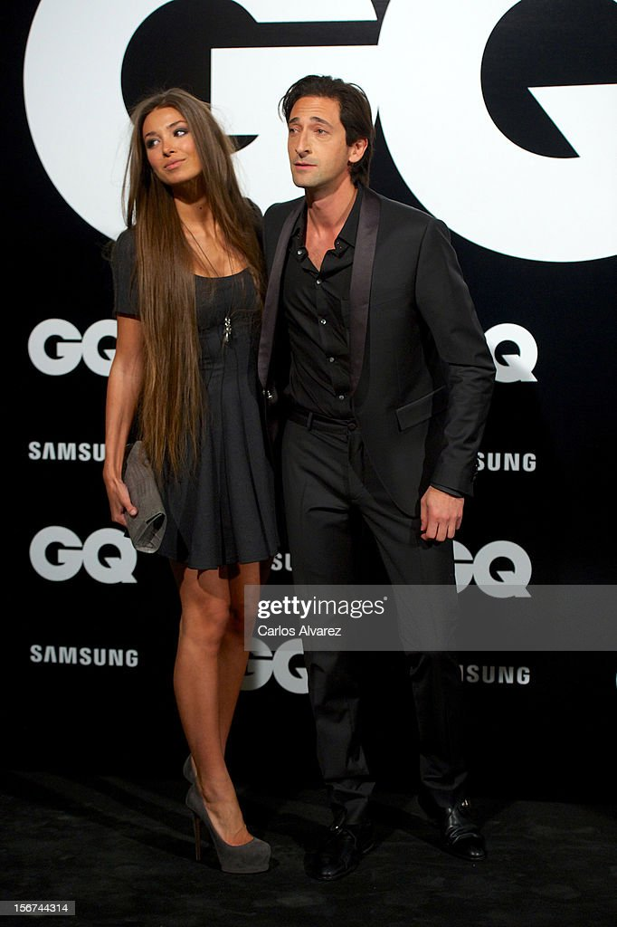 Actor Adrien Brody and girlfriend Lara Lieto attend the GQ Men Of The Year award 2012 at the Ritz Hotel on November 19, 2012 in Madrid, Spain.