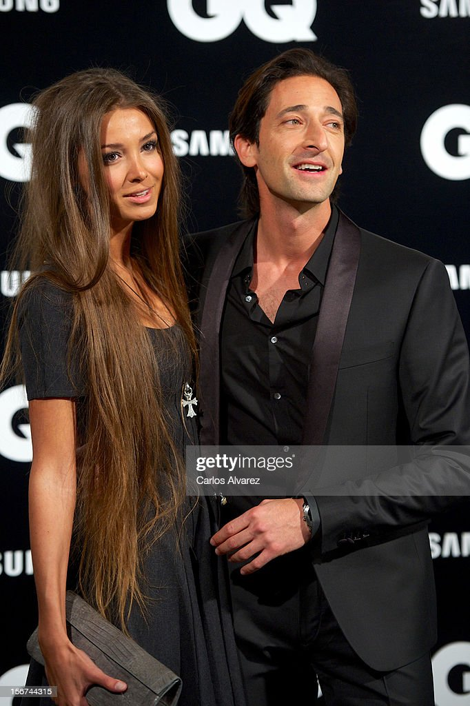 Actor <a gi-track='captionPersonalityLinkClicked' href=/galleries/search?phrase=Adrien+Brody&family=editorial&specificpeople=202175 ng-click='$event.stopPropagation()'>Adrien Brody</a> and girlfriend Lara Leito attend the GQ Men Of The Year award 2012 at the Ritz Hotel on November 19, 2012 in Madrid, Spain.